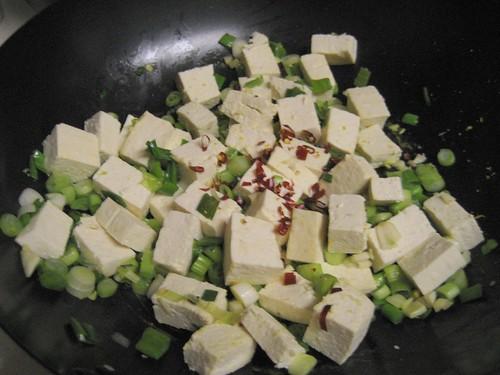scallions, tofu, garlic, chiles
