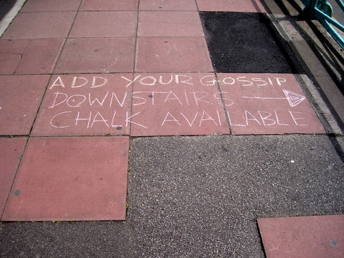 Chalk Based Discussion Forum on Brighton Beach - Instructions