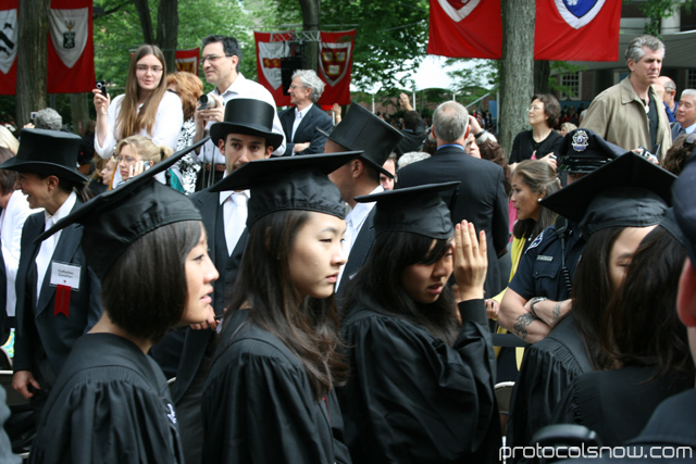Harvard University 2009 graduation ceremony Asian girls