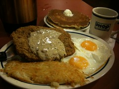 Country Fried Stake Breakfast by Rudy Girón