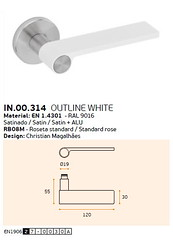 IN.00.314 OUTLINE WHITE