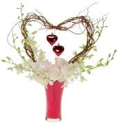 Valentine's Day Heart — Leanne and David Kesler, Floral Design Institute, Inc., in Portland, Ore.