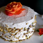 Vegan Pistachio Rosewater Cardamom Cake