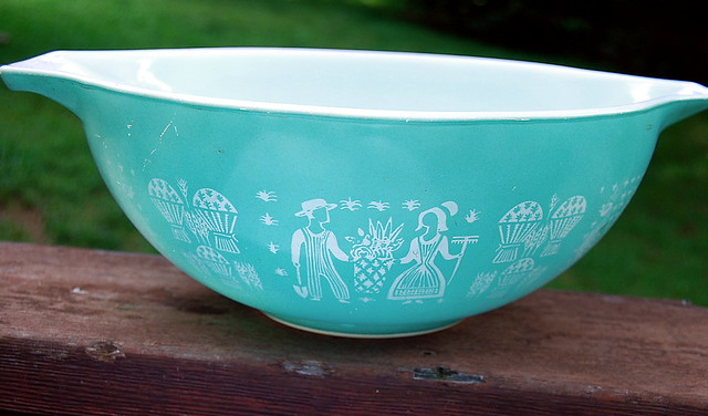 Ovenware Turquoise Butterprint Pyrex Mixing Bowl | Flickr - Photo