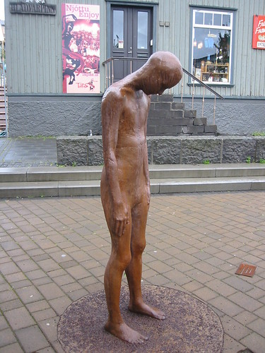 Sad Icelandic sculpture