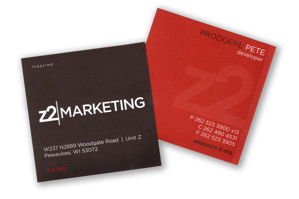 Z2 Business Card The last time I scanned the Z2 Marketing \u2026 Flickr