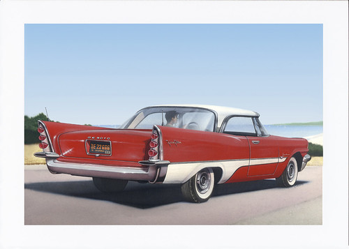 1957 De Soto Car Nostalgic Rustic Americana Antique Car Painting - car rental agent sample resume