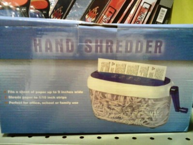 Hand shredder