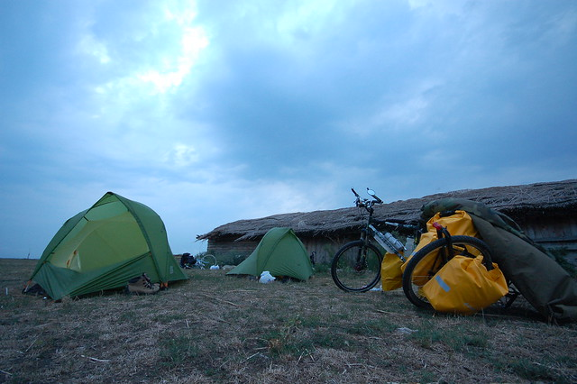 Camping on the Romanian plains