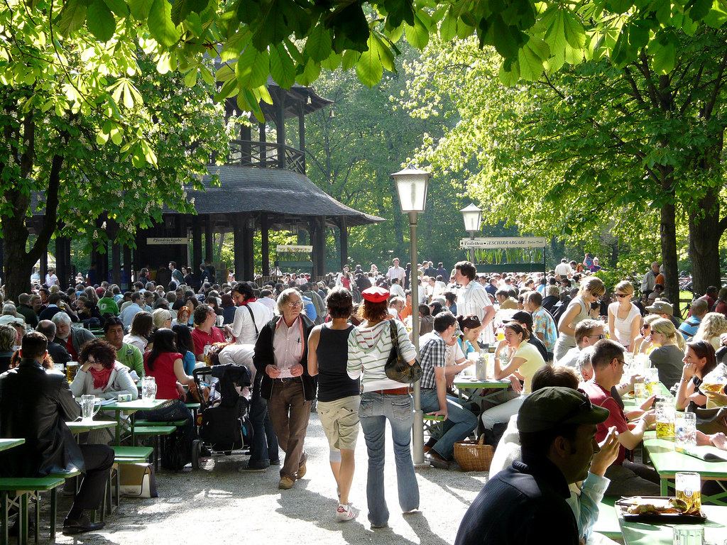 Beer Garten The Biergarten A Bavarian Institution Beer Garden At The