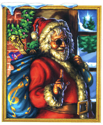 App Screen Jerry Garcia (of The Grateful Dead) Santa Claus -- Merry