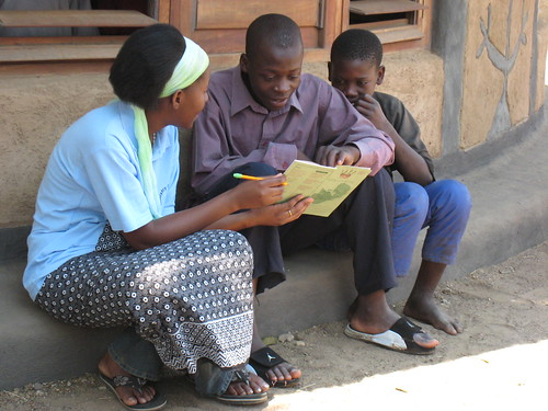 Children at First Lubuto Library