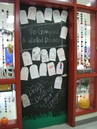 Door Decorations for Red Ribbon Week | The Graveyard of ...