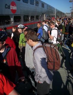Mountain View Caltrain evening commute