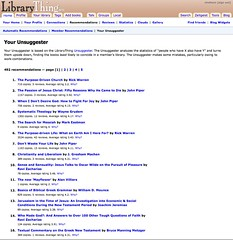 My LibraryThing Unsuggester page
