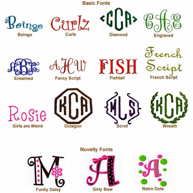 best cricut font for monograms