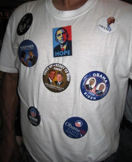 Barack Obama Supporter, Winter Park, Fla., Nov. 1, 2008