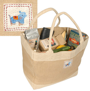 Elephant market bag - Fair Trade Jute