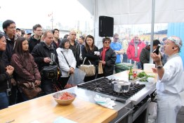 Tojo schools crowd on Spot Prawn Prep