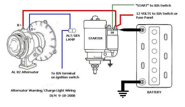 vw alternator indicator light wiring