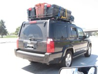 Jeep Commander Roof Rack Loaded and going to Kern River ...