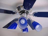 cobalt blue ceiling fan/light   Flickr - Photo Sharing!