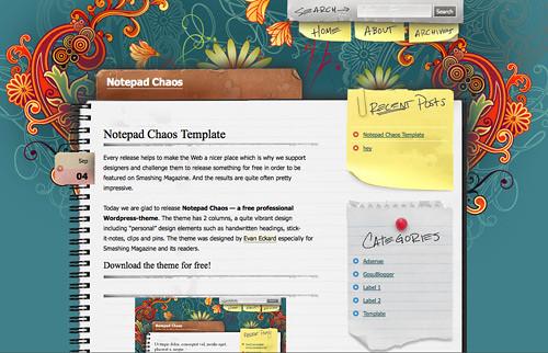 church blogger template