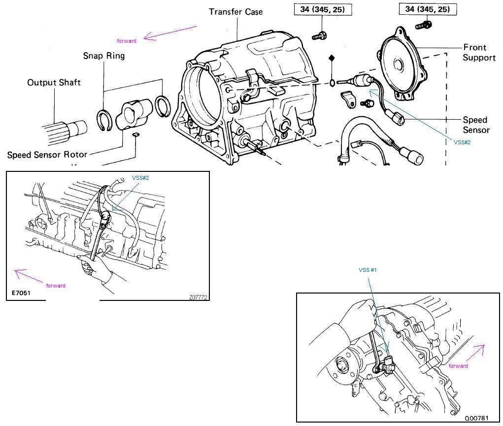 90 4runner manual transmission diagram