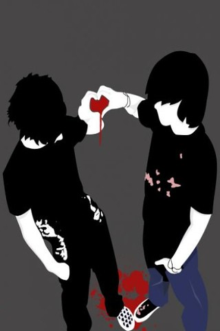 Emo Friendship - Wallpaper 4 Apples iPhone Classic, iPhone 3G, iPhone 3GS - a photo on Flickriver