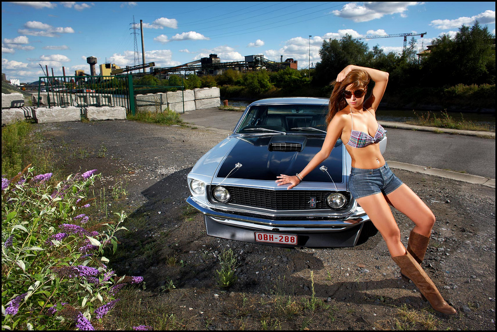 Car Display Wallpaper Vw The Beauty And The Beast 4 Mustang 1969 Coupe A Photo