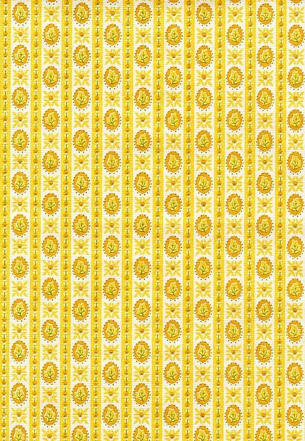 Vintage yellow wallpaper