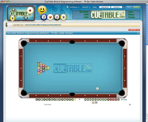 CueTable Billiard Diagram Software - Bar Table Version Flickr