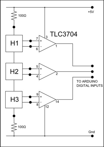 motor hall effect sensor circuit diagram