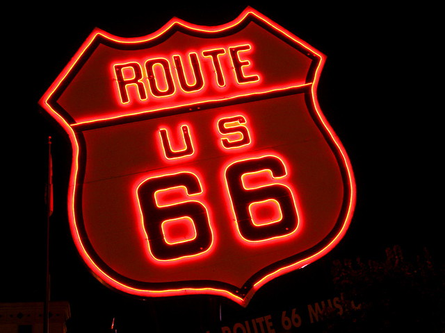 City Wallpaper Iphone Giant Route 66 Neon Sign Flickr Photo Sharing