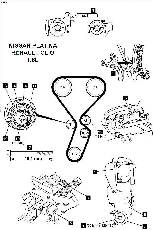2011 toyota tundra Diagrama del motor