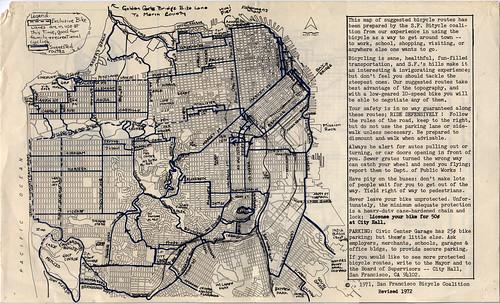 1972 SFBC Bike Route Map, inside