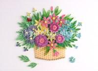Flower basket. Paper quilling | Flickr - Photo Sharing!