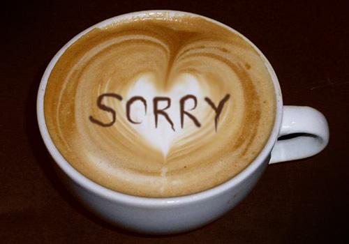 Latte Art: Sorry
