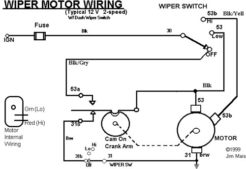 1970 vw wiper motor wiring
