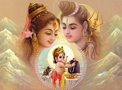 Ganpati Bappa 3d Wallpaper Shiva Parvati Ganesha A Photo On Flickriver