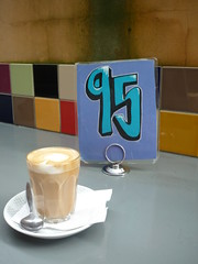 Coffee and Table Number at Sassafras
