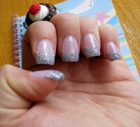 Silver Glitter Tip Nails | Flickr - Photo Sharing!