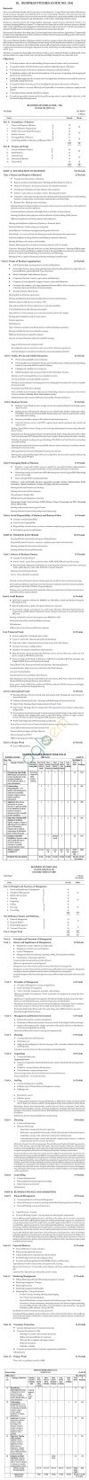 CBSE Class XI / XII Business Studies Syllabus 2014 - 2015
