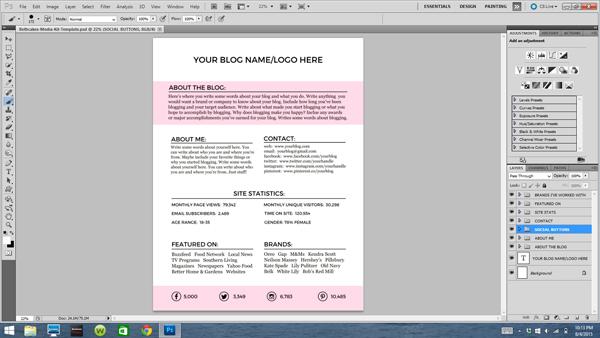 Free Downloadable Blogger Media Kit Template - media kit template