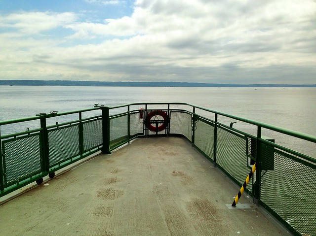 Puget Sound from the ferry Walla Walla, 2013