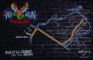 Ruta We Run Guadalajara 2013