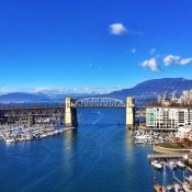 This is what Friday afternoon is looking like from the middle of the Granville Street Bridge. #notsobad