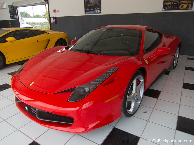 This Ferrari 458 Italia is the latest arrival in the Exotic Rides fleet. It's the latest model, replacing the F430.