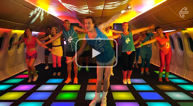 Air New Zealand's 'Mile High Madness' air safety video.