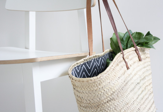 Easy DIY: Lined Wicker Summer Market Tote